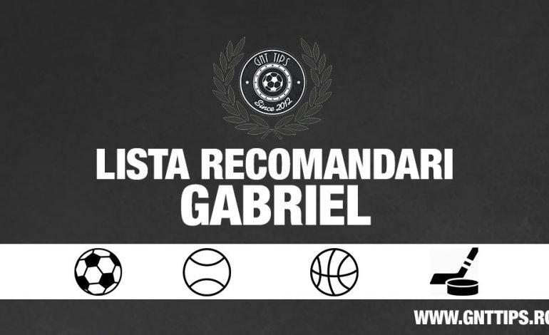 Lista cu recomandari din fotbal pentru weekend 13.04.2018 – Gabriel