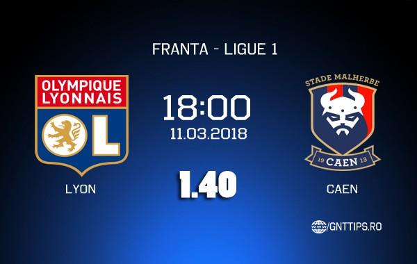 Ponturi fotbal – Lyon – Caen – Ligue 1 – 11.03.2018