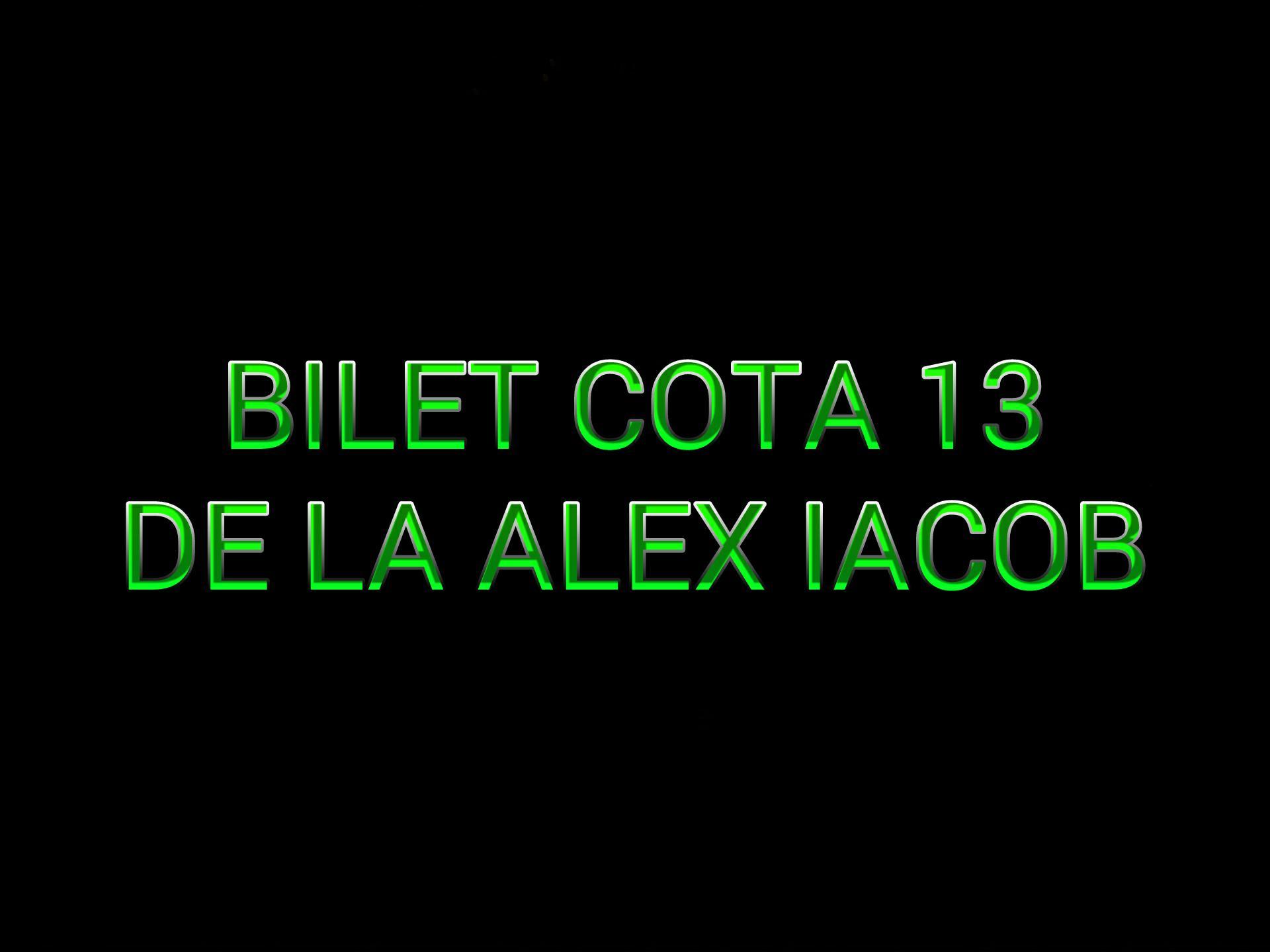 Bilet Cota 13 de la Alex Iacob
