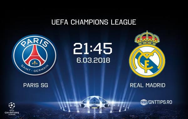Ponturi fotbal – PSG – Real Madrid – UEFA Champions League – 06.03.2018