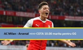 COTA 10 marita pentru GG la AC Milan - Arsenal (08.03.2018)