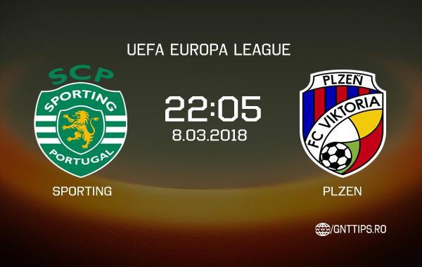 Ponturi fotbal – Sporting – Plzen – UEFA Europa League – 08.03.2018