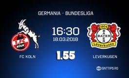 Ponturi fotbal - Koln - Leverkusen - Bundesliga - 18.03.2018