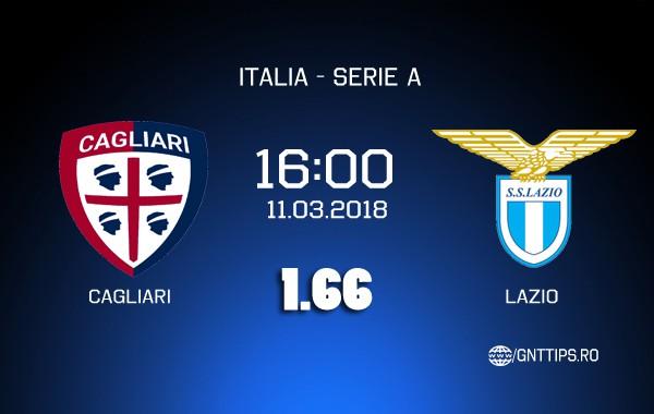 Ponturi fotbal – Cagliari – Lazio – Serie A – 11.03.2018