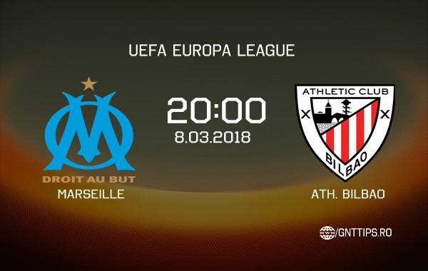 Ponturi fotbal – Marseille – Ath. Bilbao – UEFA Europa League – 08.03.2018