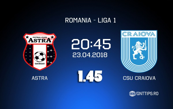 "Ponturi fotbal – Astra – CS ""U"" Craiova – Liga 1 – 23.04.2018"