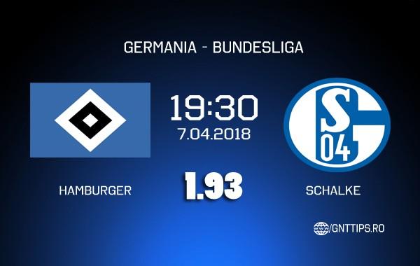 Ponturi fotbal – Hamburger SV – Schalke – Bundesliga – 07.04.2018