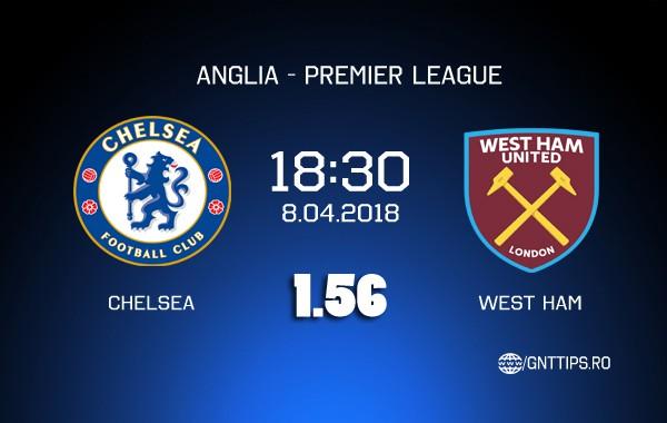 Ponturi fotbal – Chelsea – West Ham – Premier League – 08.04.2018