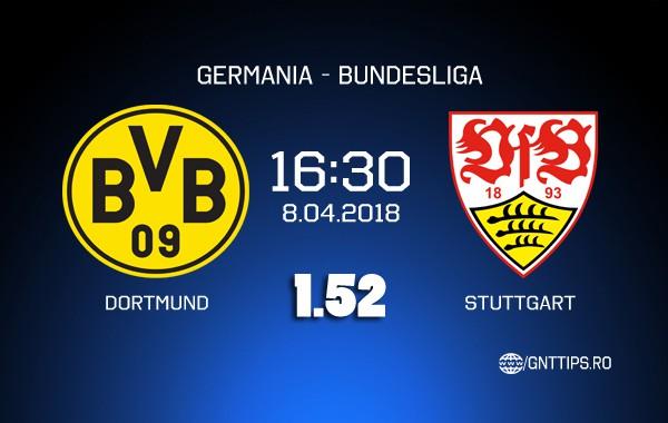 Ponturi fotbal – Dortmund – Stuttgart – Bundesliga – 08.04.2018