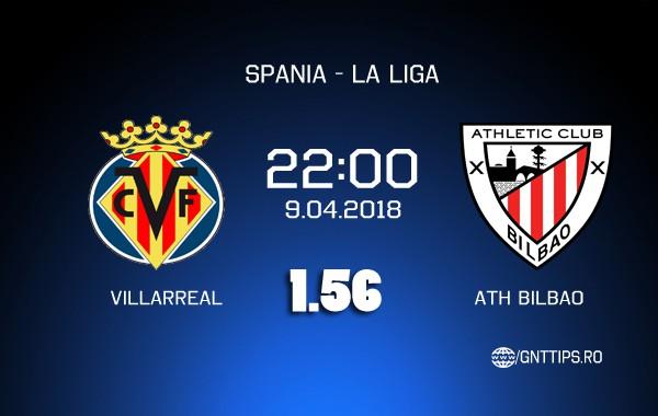 Ponturi fotbal – Villarreal – Ath. Bilbao – La Liga – 9.04.2018