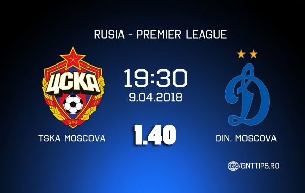 Ponturi Fotbal – TSKA Moscova – Din. Moscova – Premier League – 09.04.2018