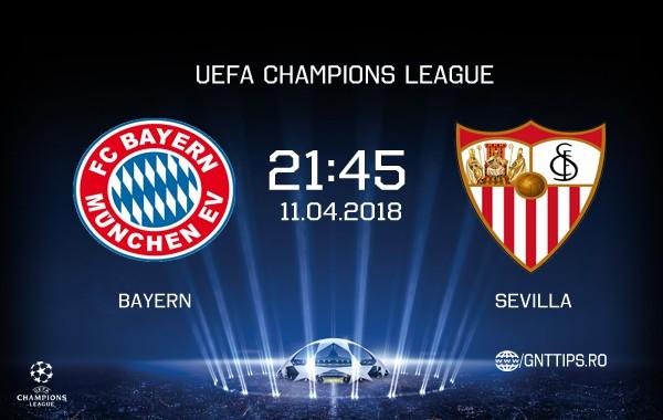 Ponturi fotba – Bayern – Sevilla  – UEFA Champions League – 11.04.2018