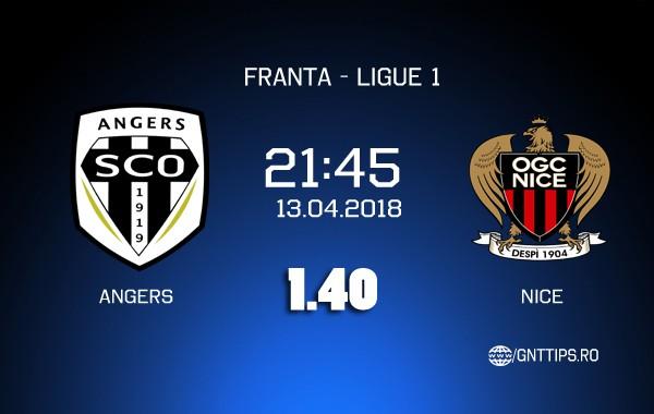 Ponturi fotbal – Angers – Nice – Ligue 1 – 13.04.2018