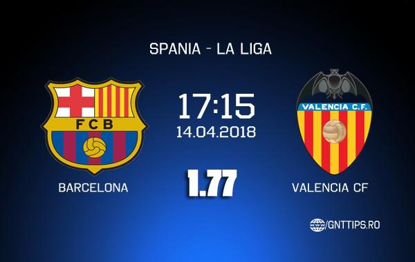 Ponturi fotbal – Barcelona – Valencia – La Liga – 14.04.2018