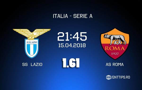 Ponturi fotbal – Lazio Roma – AS Roma – Serie A – 15.04.2018