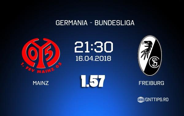 Ponturi fotbal – Mainz – Freiburg – Bundesliga – 16.04.2018