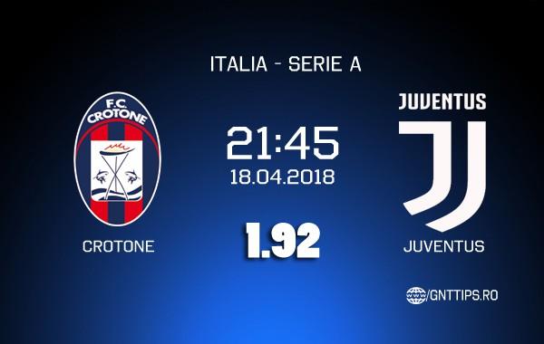 Ponturi fotbal – Crotone – Juventus – Serie A – 18.04.2018
