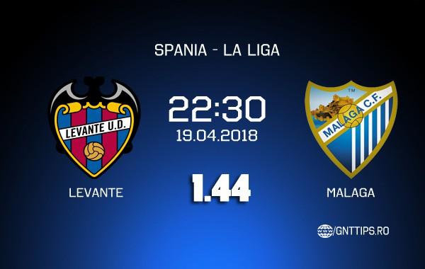 Ponturi fotbal – Levante – Malaga – La Liga – 19.04.2018