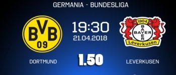 Ponturi fotbal - Dortmund - Leverkusen - Bundesliga - 21.04.2018