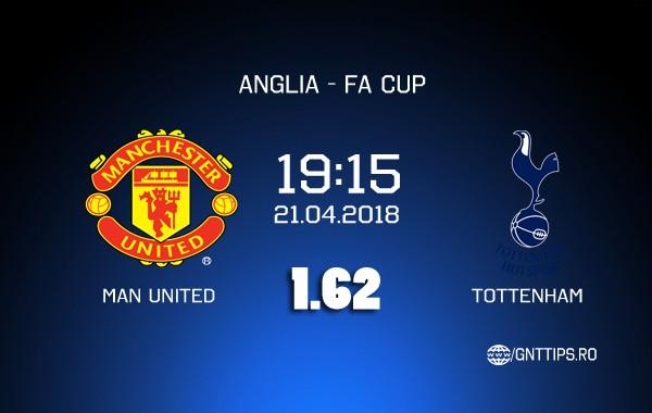 Ponturi pariuri – Man United – Tottenham – FA Cup – 21.04.2018