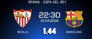 Ponturi fotbal - Sevilla - Barcelona - Copa del Rey - 21.04.2018