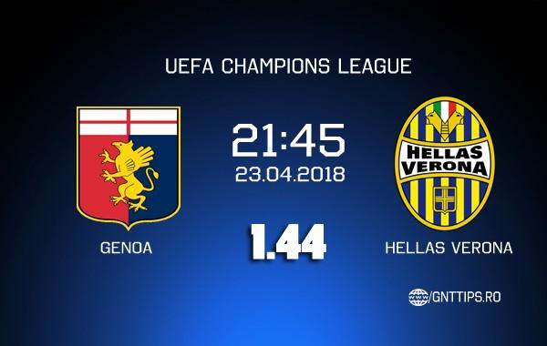 Ponturi fotbal – Genoa – Verona – Serie A – 23.04.2018