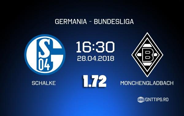Ponturi fotbal – Schalke – Monchengladbach – Bundesliga – 28.04.2018