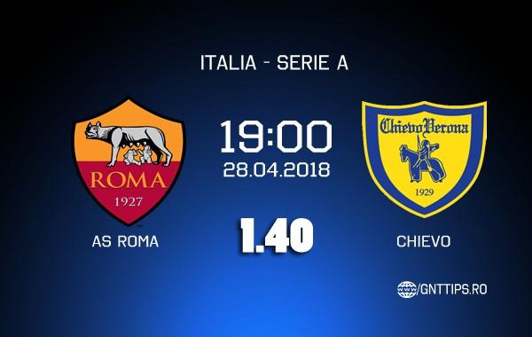 Ponturi fotbal – AS Roma – Chivo – Serie A – 28.04.2018