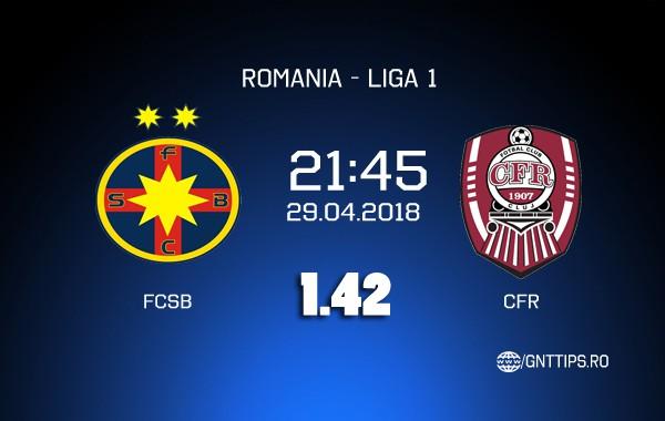 Ponturi fotbal – FCSB – CFR – Liga 1 – 29.04.2018