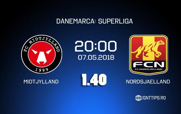 Ponturi fotbal – Midtjylland – Nordsjaelland – Superliga – 07.05.2018