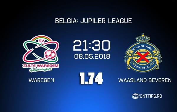 Ponturi fotbal – Waregem – Waasland-Beveren – BELGIA: Jupiler League – 08.05.2018