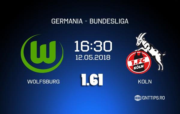 Ponturi fotbal – Wolfsburg – Koln – Bundesliga – 12.05.2018