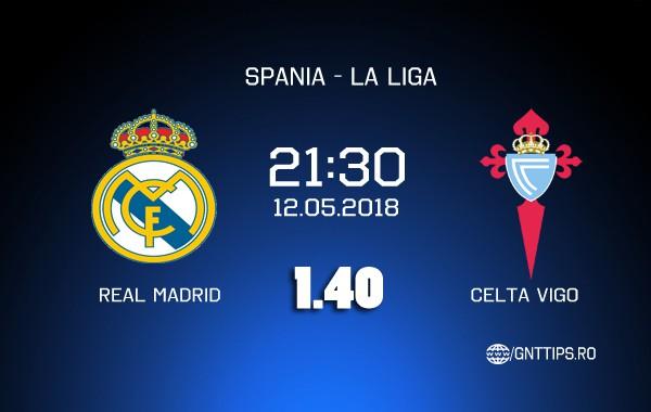 Ponturi fotbal – Real Madrid – Celta Vigo – La Liga – 12.05.2018