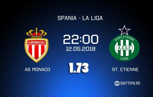 Ponturi fotbal – Monaco – St. Etienne – Ligue 1 – 12.05.2018