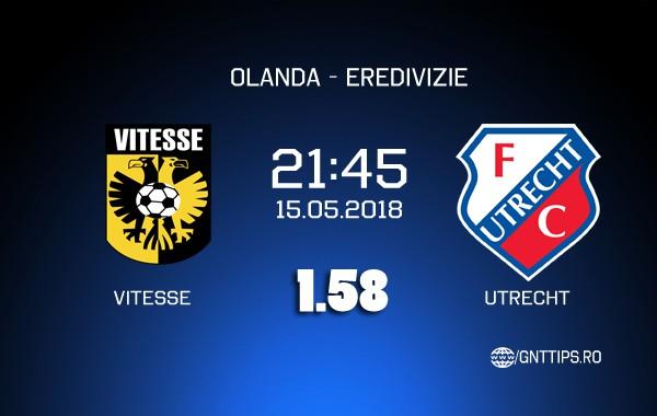 Ponturi fotbal – Vitesse–Utrecht – Eredivisie – 15.05.2018