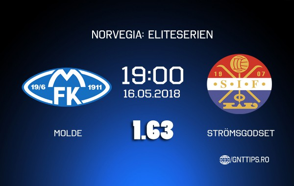 Ponturi fotbal – Molde – Strömsgodset –  Eliteserien – 16.05.2018