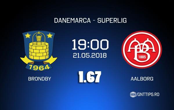Ponturi fotbal - Brondby - Aalborg - Superliga - 21.05.2018
