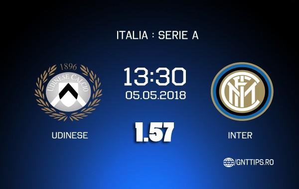 Ponturi fotbal – Udinese – Inter – Serie A – 06.05.2018