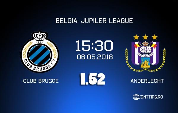 Ponturi fotbal – Club Brugge – Anderlecht – Jupiler League – 06.05.2018