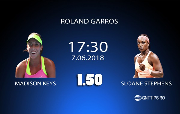 Ponturi tenis – Madison Keys – Sloane Stephens – Roland Garros