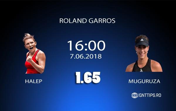 Ponturi Tenis – Halep – Muguruza – Roland Garros – 07.06.2018