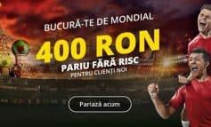 Fortuna ofera 400 RON pentru a paria fara risc pe Cupa Mondiala