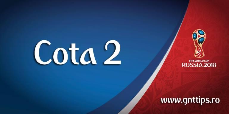 Cota 2 este formata dintr-un singur meci de la Cupa Mondiala – Gabriel