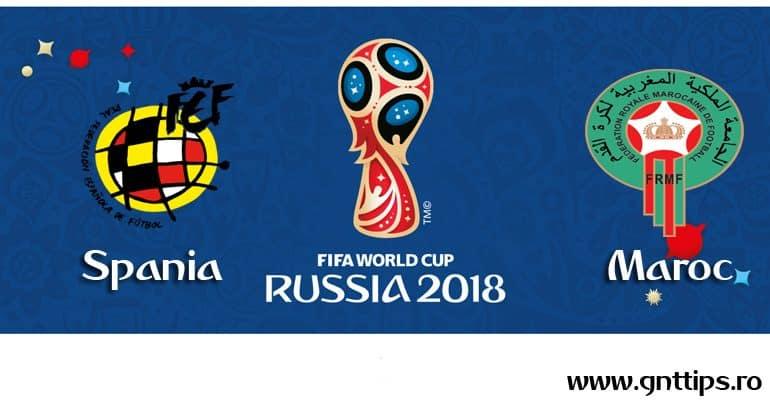 Ponturi fotbal – Spania – Maroc – Campionatul Mondial – Grupa B – 25.06.2018