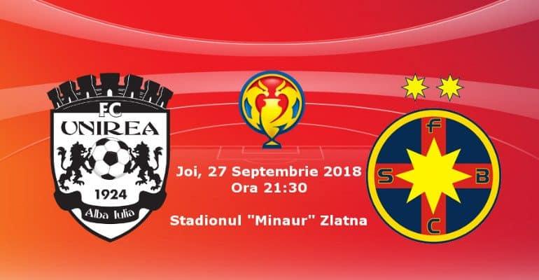 Ponturi fotbal – FC Unirea Alba Iulia – FCSB – Cupa Romaniei – 27.09.2018