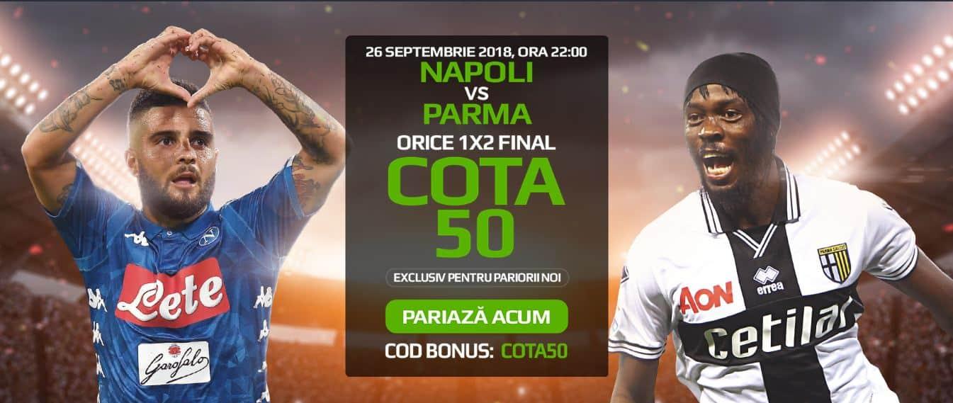 Napoli vs Parma (26 septembrie)