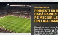 Pariaza marti pe Champions League si primesti un bonus pentru miercuri!