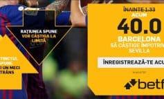 Barcelona vs. Sevilla - cota 40.00 pentru victoria catalanilor