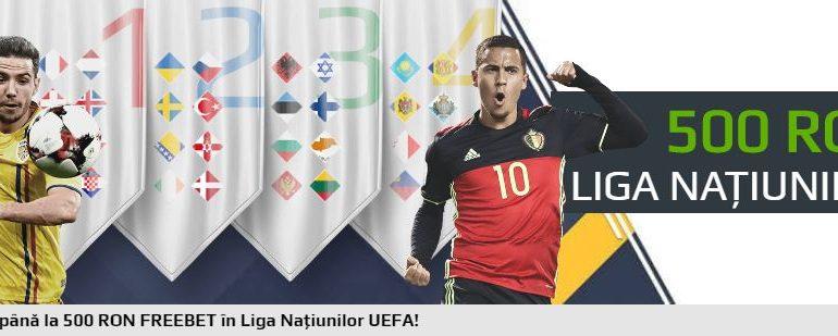 Castiga pana la 500 ron in freebeturi cu meciuri din Liga Natiunilor