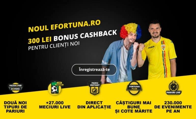 Noul bonus de bun venit la Fortuna – 300 RON cashback